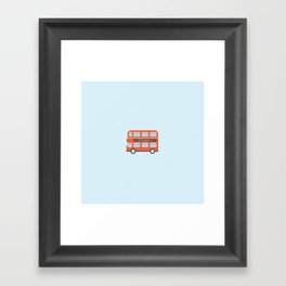 London Bus Illustration Framed Art Print