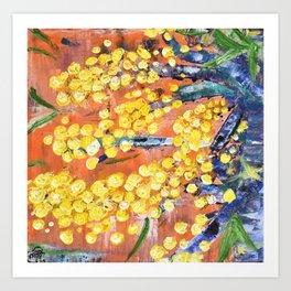 Rustic Wattle Art Print