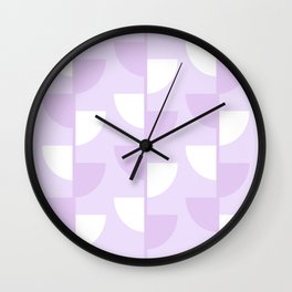 Pastel Warm Lilac Flowers in the Summer Sun - Geometric Abstract Wall Clock