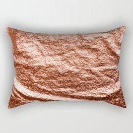 Rose gold draped foil Rectangular Pillow
