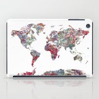 map of the world iPad Cases featuring World Map  by MapMapMaps.Watercolors