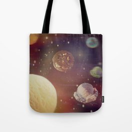 Planets of the iceshapes Tote Bag