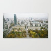 poland Canvas Prints featuring Warsaw, Poland by Tomek Baginski