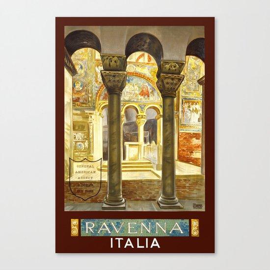 Vintage Ravenna Italy Travel Canvas Print