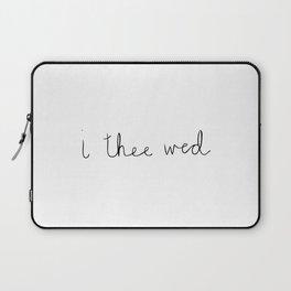 Wedding Vows - I Thee Wed Handwritten Laptop Sleeve