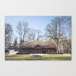 Larch manor house Canvas Print