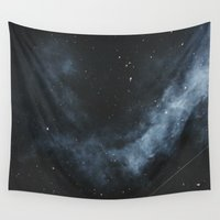 night sky Wall Tapestries featuring night sky by ~~a~~k~~a~~