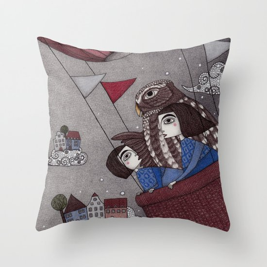 Through the Clouds and Back Again Throw Pillow