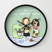 baking Wall Clocks featuring Baking Advice by Sophie Corrigan