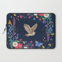 Owl and Wildflowers Laptop Sleeve
