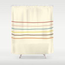 Classic Abstract Minimal Rainbow Retro Summer Style Stripes #2 Shower Curtain