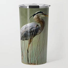 Great Blue At The Beach Travel Mug