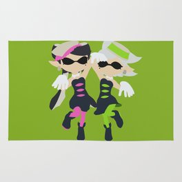 Callie & Marie (Green) - Splatoon Rug
