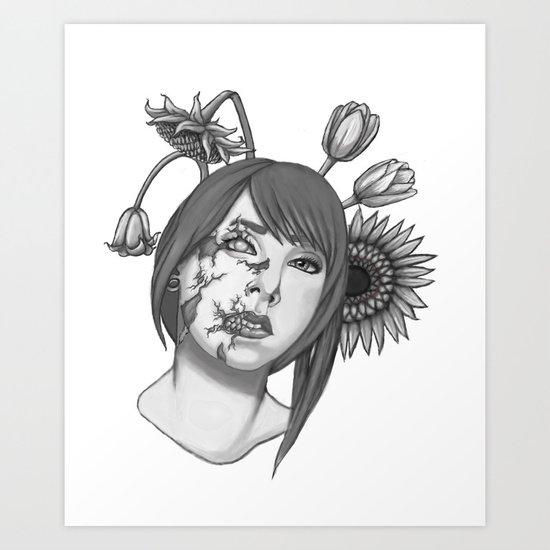 Half of you Art Print