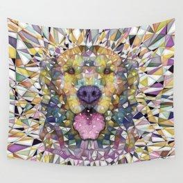 rainbow dog Wall Tapestry