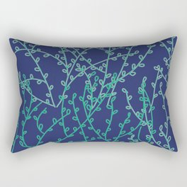 Branches in Blue Pattern Rectangular Pillow