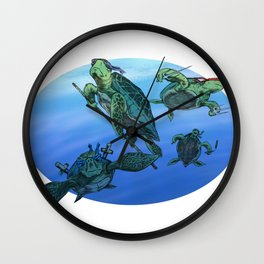Ninja Turtles Wall Clock