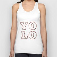 yolo Tank Tops featuring YOLO by Sylvie Tunez