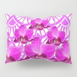 PURPLE ART DECO PATTERN ORCHIDS PATTERN ABSTRACT Pillow Sham