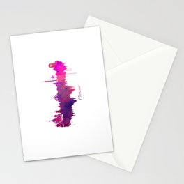 Skyline Moscow purple Stationery Cards