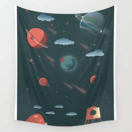 Moon Poster Wall Tapestry