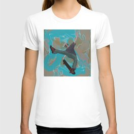 Skateboard Karate Kung Fu masked kid 580. T-shirt