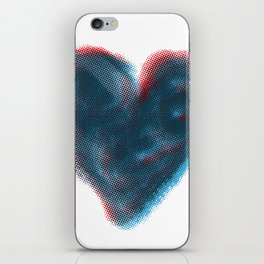 Red and Blue Heart iPhone Skin