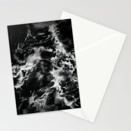 Waves III - Black and White Stationery Cards