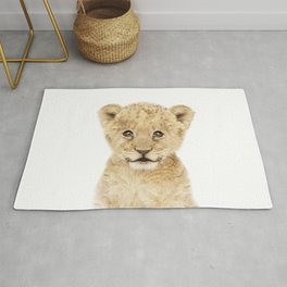 Baby Lion Cub Portrait Rug