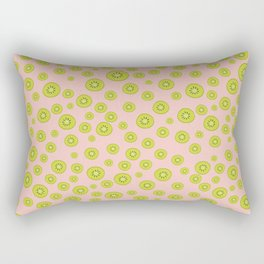 Kiwi Polka Dot Pattern Rectangular Pillow