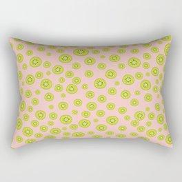 Kiwi Polka Dot Pattern Rectangular Pillow