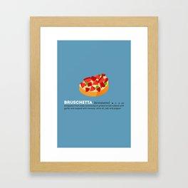 Bruschetta su Blu Framed Art Print