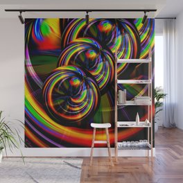 Creations in the color spectrum of the rainbow 3 Wall Mural