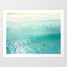 Surfers II Art Print