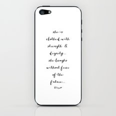 SHE IS - B & W iPhone & iPod Skin