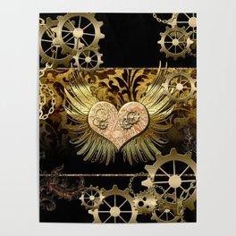 Steampunk, heart Poster