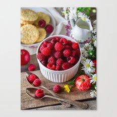 raspberry for breakfast Canvas Print
