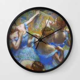 "Edgar Degas ""Dancers in blue"" Wall Clock"