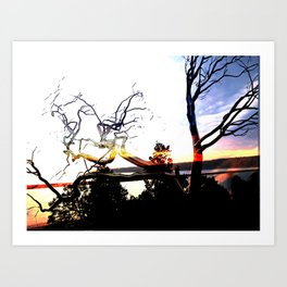 steel trees Art Print