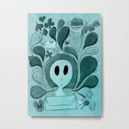 Doodle box duocolor Metal Print