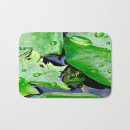 Peek  A Boo frog Bath Mat