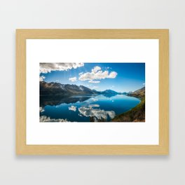 Sun rays at Lake Wakatipu, New Zealand Framed Art Print