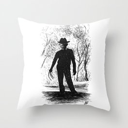 One, Two, Freddy's Coming For You Throw Pillow