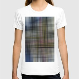Deconstructed Abstract Scottish Plaid Pattern T-shirt