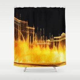 Bellagio Fountains Las Vegas Shower Curtain
