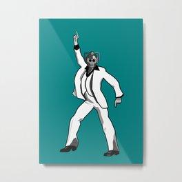 Saturday Night Cyberman Metal Print