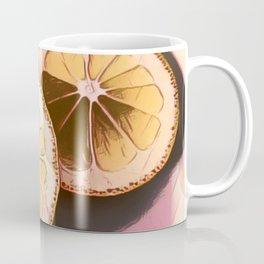 Lemon Study on Pink Coffee Mug