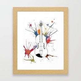 Violin Splash Framed Art Print