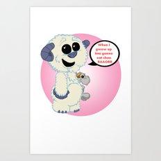 Lil Wampa (pink) Art Print