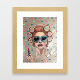 Nicotine Vanity Framed Art Print